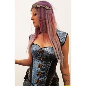 Leathercroco corset bleu