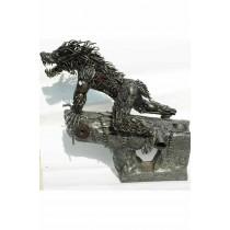 Werewolf statue metallique