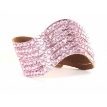 Bracelet vague decoupé strass