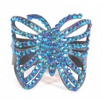 Bracelet decoupé papillon bleu
