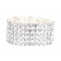 Bracelet strass élastique