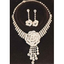 Parure strass rose