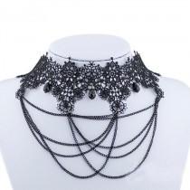 Collier Vintage chainette noire