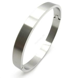 Bracelet lisse acier steel